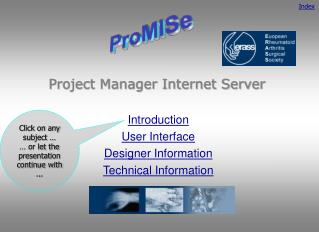 Project Manager Internet Server