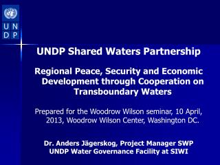 UNDP Shared Waters Partnership