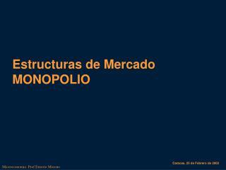 Estructuras de Mercado MONOPOLIO