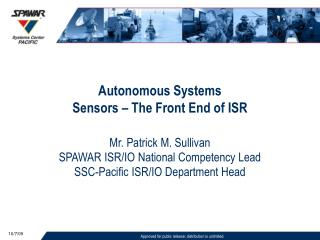 Autonomous Systems Sensors   The Front End of ISR