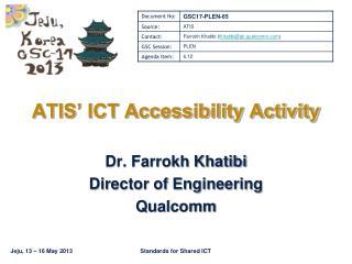 ATIS' ICT Accessibility Activity