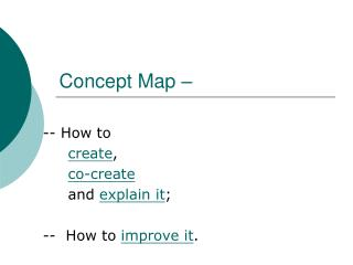Concept Map –
