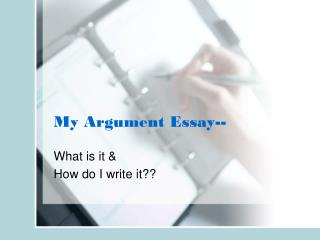 My Argument Essay--