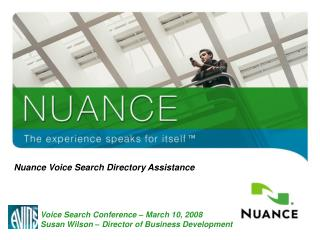 Nuance Voice Search Directory Assistance