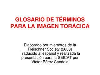 GLOSARIO DE T RMINOS PARA LA IMAGEN TOR CICA