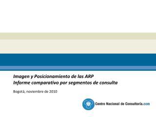 Imagen y Posicionamiento de las ARP   Informe comparativo por segmentos de consulta
