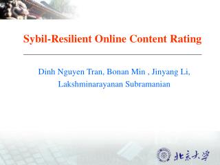 Sybil-Resilient Online Content Rating
