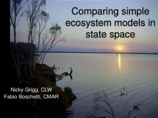 Comparing simple ecosystem models in state space