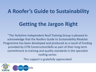 A Roofer's Guide to Sustainability