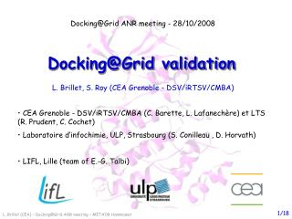 Docking@Grid validation