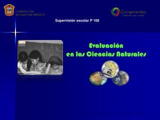 Evaluación en las Ciencias Naturales
