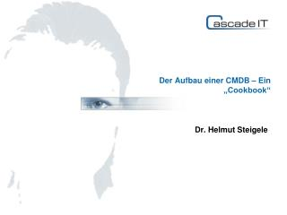 """Der Aufbau einer CMDB – Ein """"Cookbook"""""""