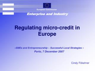 Regulating micro-credit in Europe