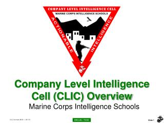 Company Level Intelligence Cell (CLIC) Overview