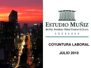 COYUNTURA LABORAL JULIO 2010