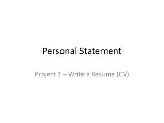 A Resume that works   Standing out from the crowd