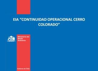 "EIA ""CONTINUIDAD OPERACIONAL CERRO COLORADO"""