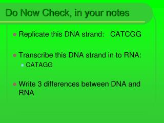 Do Now Check, in your notes