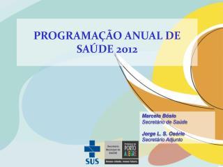 PROGRAMAÇÃO ANUAL DE SAÚDE 2012