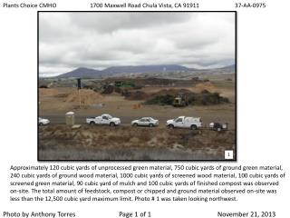 Plants Choice CMHO1700 Maxwell Road Chula Vista, CA 91911     37-AA-0975