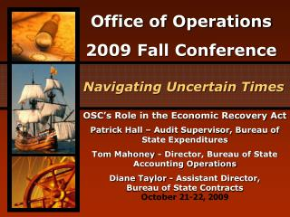 OSC's Role in the Economic Recovery Act