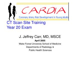 CT Scan Site Training Year 20 Exam