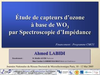 Étude de capteurs d'ozone  à base de WO 3 par Spectroscopie d'Impédance