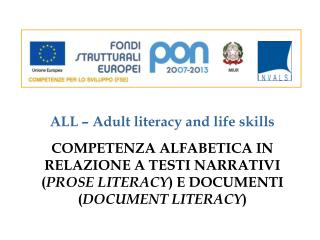 ALL � Adult literacy and life skills