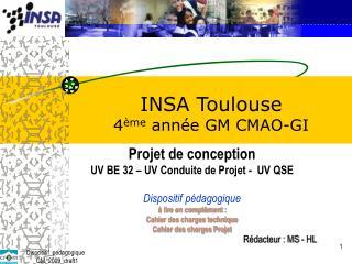 INSA  Toulouse  4 ème  année GM CMAO-GI