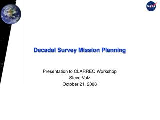 Decadal Survey Mission Planning
