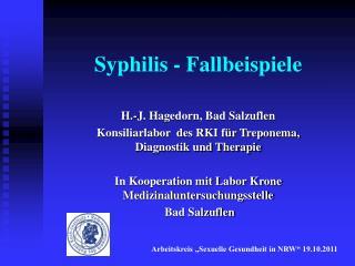 Syphilis - Fallbeispiele