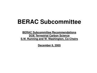 BERAC Subcommittee