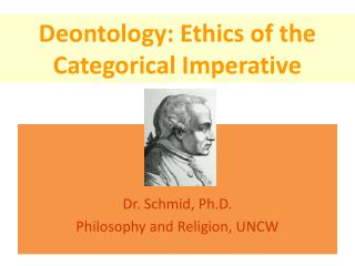 deontology ethics and kant Kant's categorical imperative is a major aspect of deontology and has three main ideas that center on the belief that you should treat others how you want to be treated, and the outcomes of any.
