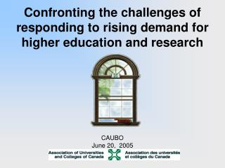 Confronting the challenges of responding to rising demand for higher education and research