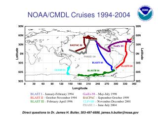 NOAA/CMDL Cruises 1994-2004