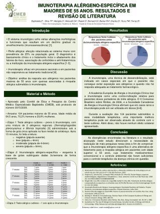 IMUNOTERAPIA ALÉRGENO-ESPECÍFICA EM MAIORES DE 55 ANOS. RESULTADOS  E REVISÃO DE LITERATURA