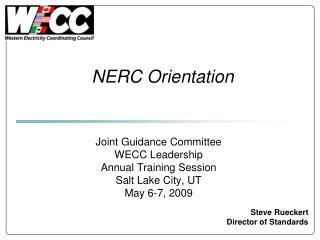 NERC Orientation