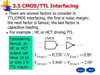 3.5 CMOS/TTL Interfacing