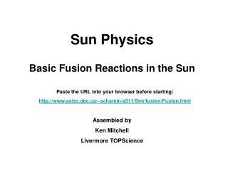 Sun Physics