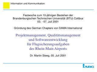 Festwoche zum 10-jährigen Bestehen der Brandenburgischen Technischen Universität (BTU) Cottbus