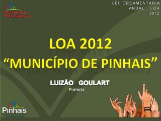 LEI  ORÇAMENTÁRIA  ANUAL – LOA 2012