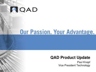 QAD Product Update