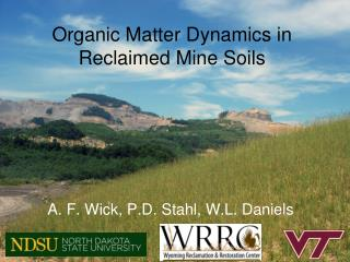 Organic Matter Dynamics in Reclaimed Mine Soils