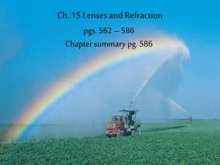 Ch. 15 Lenses and Refraction
