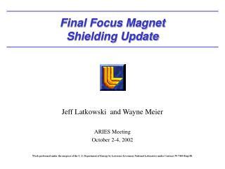 Final Focus Magnet Shielding Update