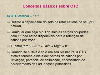 "Conceitos Básicos sobre CTC CTC efetiva – "" t """