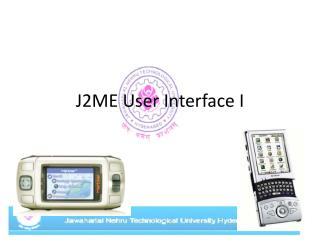 J2ME User Interface I