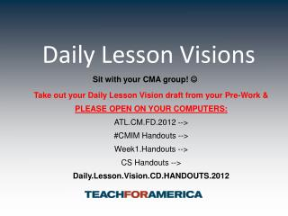 Daily Lesson Visions