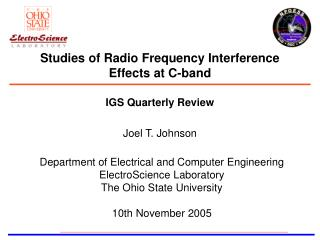 Studies of Radio Frequency Interference Effects at C-band