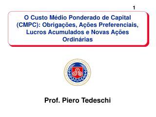 Prof. Piero Tedeschi